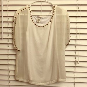 Flowy Grecian top from Cache